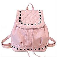 LOUYT Women Backpack Leather Shoulder Bag School Bag Korean Female Mini Backpacks Teenage Girl Mochila Escolar Women Backpack