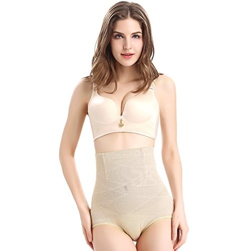 41bisy%2BSmTL. SS500  - Mmrm Women's Body Shaper Underwear High Waist Tummy Control Shaping Knickers Skin M