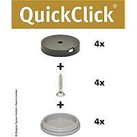"""'Wagner QuickClick® Sedia gleiter//set da avvitare//""""Hyper–Diametro 30mm–15809600 - Trova i prezzi più bassi"""