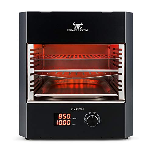 Klarstein Steakreaktor Pro Barbacoa de alta temperatura - Calefactor de cerámica por infrarrojos, 3200...