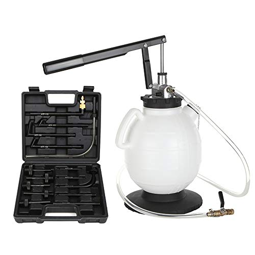 Fesjoy Sistema di rabbocco Pneumatico ATF, estrattore di Olio e Liquido di Estrazione Set di Pompe per Fluido Cambio Automatico 7.5L Dispositivo di riempimento Olio Cambio dello Strumento