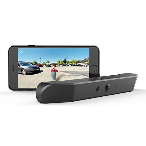 nonda ZUS Smart Backup Kamera, echte kabellose Rückfahrkamera mit 170 Grad Weitwinkel und wiederaufladbarem Akku, IP67 wasserdicht, einfache Installation ohne Verkabelung oder Bohren