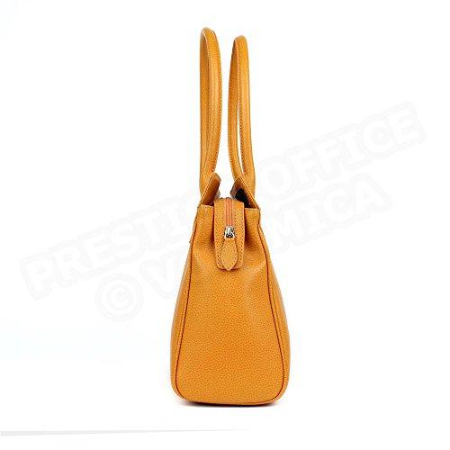 Tasche Schulter Nathalie Leder Herstellung Luxe Französische Orange - Orange