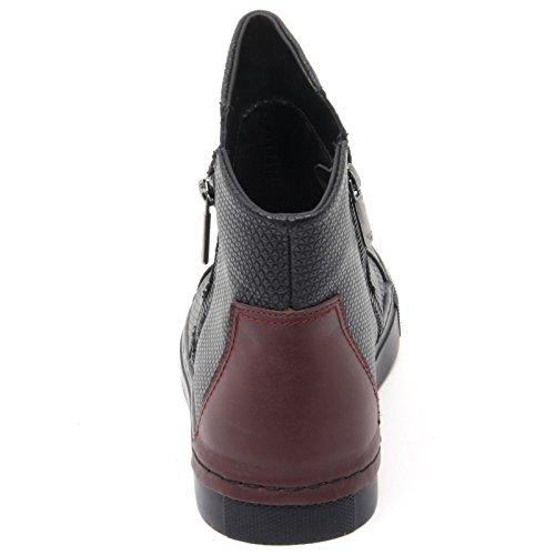 B8476 sneaker donna ARMANI JEANS AJ scarpa nero/bordeaux shoe woman Nero/Bordeaux
