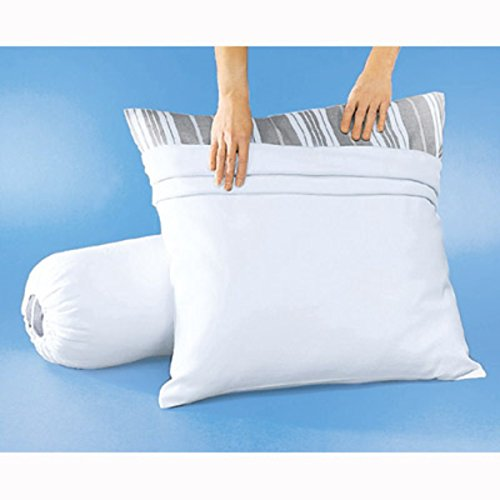 la-redoute-interieurs-pillow-bolster-protector-with-anti-stain-treatment-white-size-50x70cm