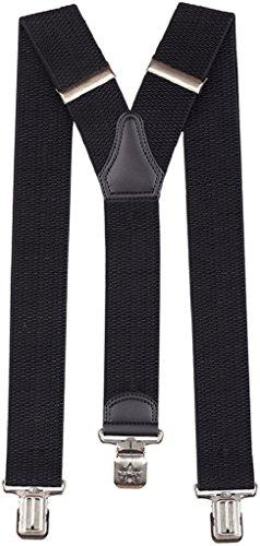 Ranger Hosenträger für Y-förmige 5cm breit verstellbar und elastisch mit einem sehr starken Clips (schwarz)