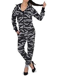 REDRUM | Damen | Sportanzug | Trainingsanzug | Jogginganzug | Camouflage | Militär | Jogginghose und -jacke | Freizeitmode für den Partnerlook | Größe XS - 3XL | 6 Trendige Farben