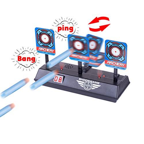 LoKauf Objetivos Auto-Reset con Efecto de Sonido Electric Target para Nerf Infinus/Nerf Disruptor/Nerf Surgefire/Nerf Retaliator/Nerf Rapidstrike/Nerf Jolt/Nerf AccuStrike/Nerf Modulus/Nerf Stryfe