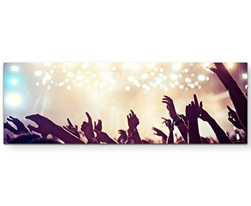 Eau Zone Wandbild auf Leinwand 120x40cm Konzert - Publikum