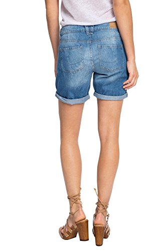 edc by Esprit 066cc1c016 In Vintage Waschung, Short Femme Bleu - Blau (BLUE LIGHT WASH 903)