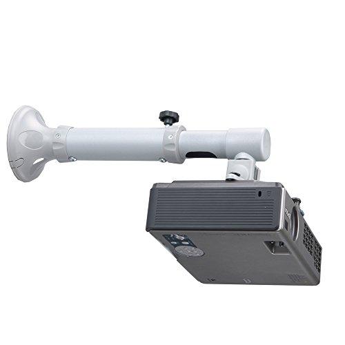 NewStar BEAMER-W050 Universal Wandhalterung für Projektor (Länge 37 cm bis 47 cm) silber