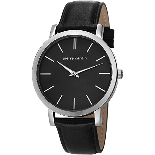 Pierre Cardin Mens Analogue Classic Quartz Watch with Leather Strap PC106511F02