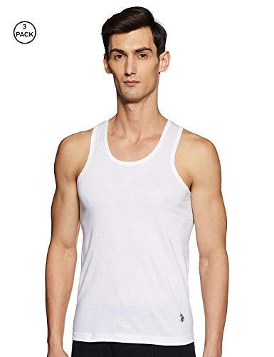 U.S. Polo Assn. Men's Solid Vest (Pack of 3) (I661-001-P3_White_L)