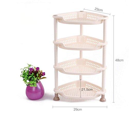 VIOY Regal-Organisator-Behälter-Regal-Teiler für Schränke Lagerregal-Aufbewahrungsbehälter-Badezimmer-Regal-Küche-Hygiene-Toiletten-Plastikmüll-Speicher-Dreieck-Boden-Regal,48CM
