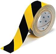 WONDER Vinyl Floor Tape (Yellow and Black, 2inchx35m)