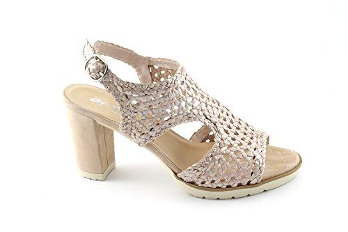 MELLUSO S768 plata perlato rosa scarpe donna sandalo tacco cinturino intreccio Rosa