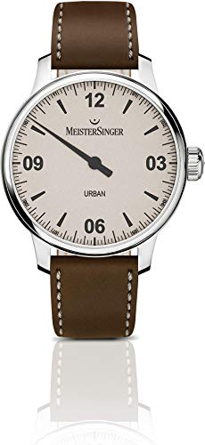 Meistersinger Men's Urban 40mm Leather Band Steel Case Automatic Watch UR913