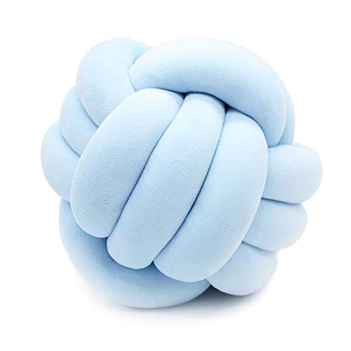 inzigartiges Seilknoten-Wurfskissen, Kreatives Sofakissen, Kinderspielzeug Im Nordischen Stil,Blue,L ()