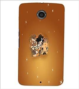 PrintDhaba Zodiac Leo D-5615 Back Case Cover for MOTOROLA GOOGLE NEXUS 6 (Multi-Coloured)