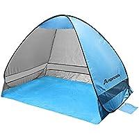 Anpress Outdoor Automatique Pop up Beach Tent Portable Cabana Anti UV 50+ Canopy Sun Shade Sport Shelter Sun Shelter pour famille Enfants Baby Outdoor Camping Pêche Pique-nique Randonnée