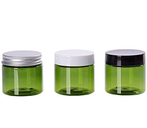 50g 50ml in plastica 6pezzi verde cosmetici contenitore barattolo da