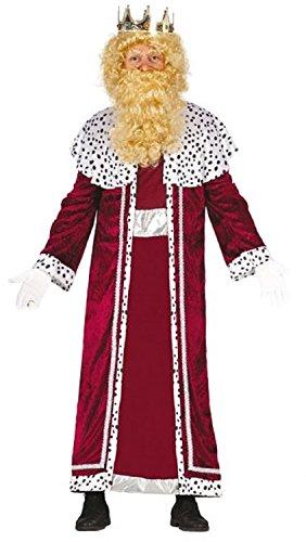 Rot Kostüm Herren Mann Weiser - Fancy Me Herren rot oder blau Weihnachten König Weiser Mann Herren Geburt Kostüm Kleid Outfit - Rot, One Size, One Size