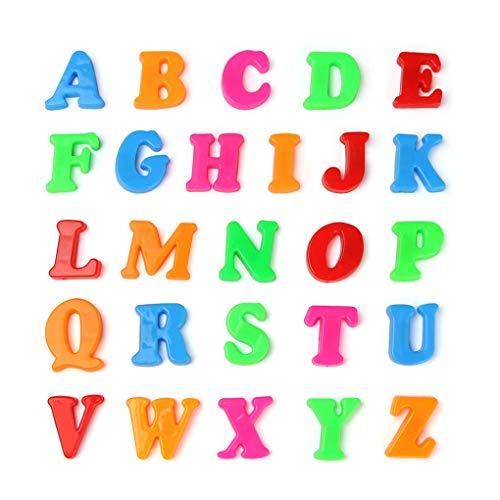 Uzinb Kunststoff Buntes magnetisches Kühlschrank Alphabet Letter Anzahl Set Kind-Baby-Kind-Lernen-pädagogischer Spielzeug-Magnet Letters (Baby-magneten Kühlschrank)