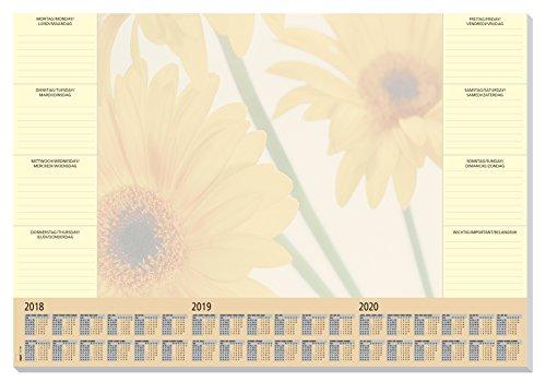 Sigel HO380 Papier-Schreibunterlage mit 3-Jahres-Kalender und Wochenplan, 59,5 x 41 cm, 30 Blatt - weitere Designs (2015 Papier-kalender)