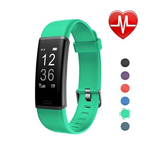 LETSCOM Fitness Armband mit Pulsmesser Fitness Tracker wasserdicht Aktivitätstracker Armbanduhr mit Schrittzähler, Pedometer, Kalorienzähler, Smart Armband für Kinder, Damen und Herren Grün
