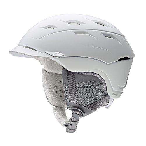 Smith Damen Skihelm VALENCE Satin White 5559, Satin Weiß/grau, 55-59, E00654VAF5559