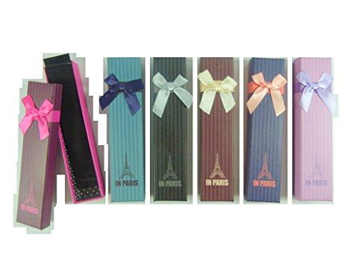 PartyErasers 6 Farben in Paris - Entwurfs - Halskette Armbänder Charme - Korn - Geschenk - Box (6 leere Kisten)