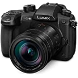 Panasonic Lumix G Kamera EVIL (Fotos und Videos in 6K, 12–60mm Leica Objektiv, 20.3MP, Dual I.S. 25-Achsen Bildstabilisator. Mos Sensor) schwarz