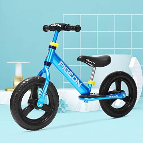 Dsrgwe Kinder Laufrad,Lauflernrad, 12inch Balancen-Fahrrad, Kleinkind Walker Push-Bike for 2-4 Jährige, Aluminiumlegierung Feld Fahrrad, kein Pedal-Stride-Fahrrad mit verstellbarem Lenker/Seat