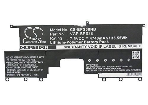 CS-BPS38NB Batería portátil 4740mAh Compatible [Sony]