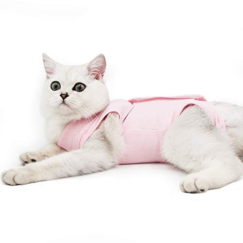El traje de recuperación para gatos se utiliza principalmente para: cuidado de desinfección, prevención postoperatoria de sputum, y mantener caliente después del afeitado que también se aplica para perros y otras mascotas.   Esta es una alternativa d...