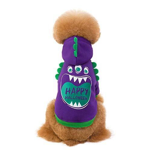 Dinosaurier Kostüm Ziel - Factorys Haustier-Kleidung Katzen-Dinosaurier-T-Shirt, Hundemantel-T-Shirt Winter-warme Sweatshirt-Kleidung