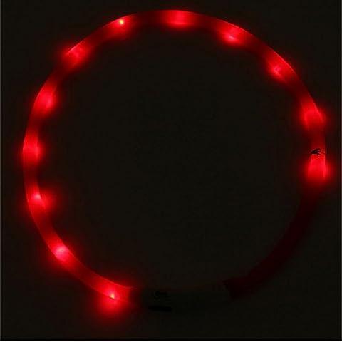 Stallion® pour animal domestique Chien Collier Boucle de lumière clignotante LED rechargeable étanche