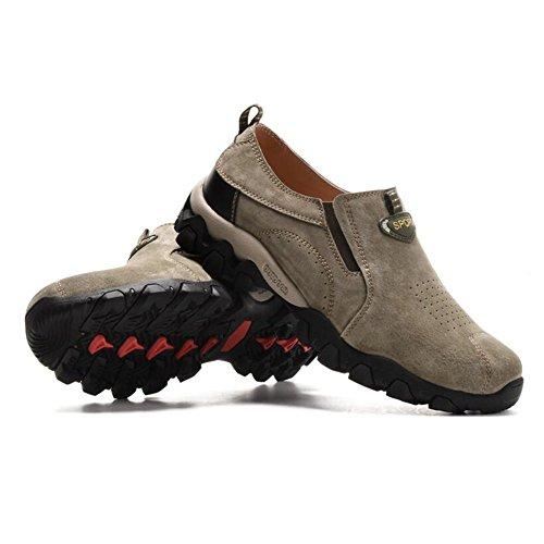 Chaussures Décontractées Mâle Montagne Escalade Costume Automne Plein Air Fond Souple Sport Chaussures Slip On Brown-noir Brun