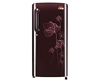 LG 190 L 4 Star Direct-Cool Single Door Refrigerator (GL-B201ASHP.ASHZEBN, Scarlet Heart)