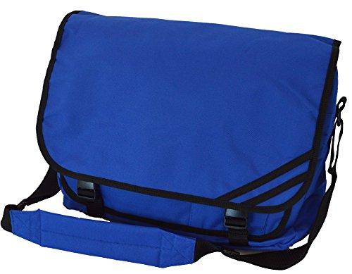 Messenger Bag 'Euro' in 10 Farben Schultasche Collegetasche (Royal Blue) (Euro Messenger)
