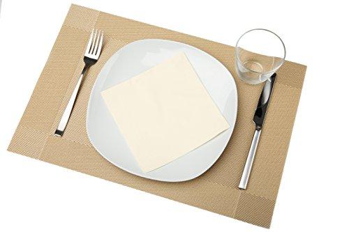 bellendo Tischsets 4er Set | Platzset PVC Kunststoff: Abwischbar, Rutschfest | Design Platzdeckchen edel, Weihnachten - 45 x 30 cm - Gold