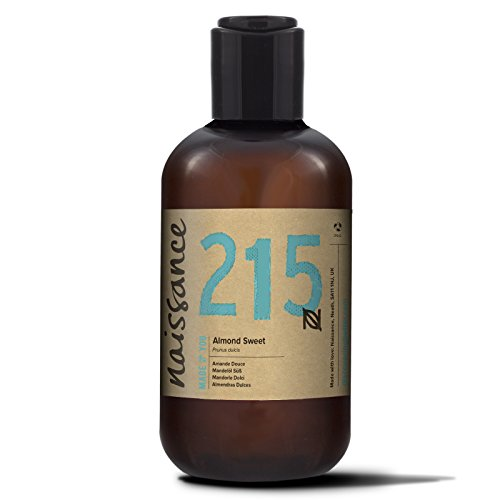 Naissance reines Mandelöl süß 250ml - Vegan, gentechnikfrei - Ideal zur Haut- und Haarpflege, für Aromatherapie und als Basisöl für Massageöle