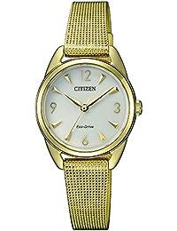 Citizen Analog Champagne Dial Women's Watch-EM0687-89P