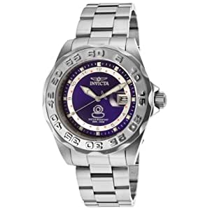 Invicta Men's Quartz Watch with Blue Dial Analogue Display and Silver Stainless Steel Bracelet 15336