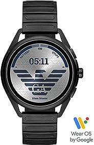 Emporio Armani Men's Multicolor Dial Stainless Steel Digital Smartwatch - ART