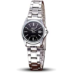 Jamicy® SBAO Sports Series Leisure Couples Watches Fashion Women's Stainless Steel Wrist Watch