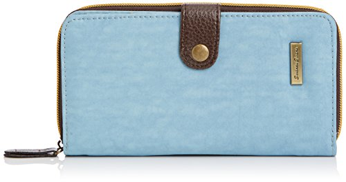 SwankySwans - Riley Long Folding Lw, Portafogli Donna Blu (Blu (Light Blue))