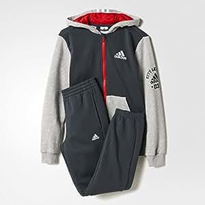 Adidas Survêtement College avec capuche 110 gris