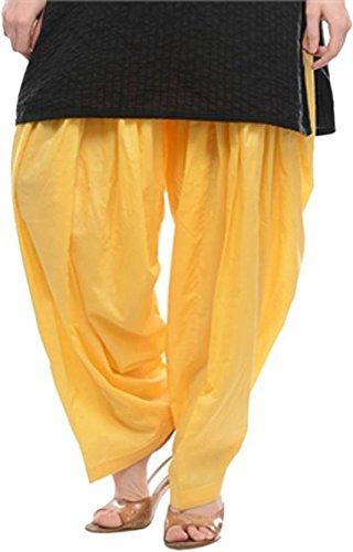 Pi World Women's Cotton Patiala Salwar Free Size Cotton Solid Patiala Cotton...