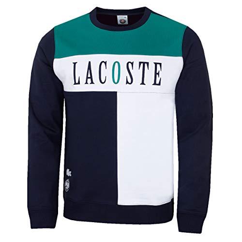 Lacoste Herren Saison Roland Garros Sweater - Marine/Weiß/Woodland - XXXL Woodland Fleece-sweatshirt